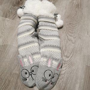 NWT rabbit slipper socks